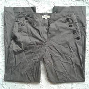 Loft Pants Marisa Fit Sailor Front Wide Leg Sateen